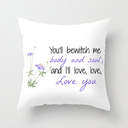 Bewitch Me Throw Pillow
