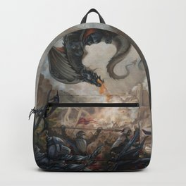 Black Battle Dragon Backpack