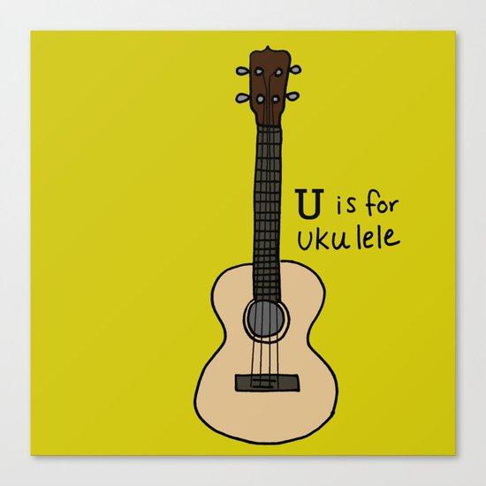 U is for Ukulele Canvas Print