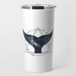 Tail Of A Whale. Geometric Style Travel Mug