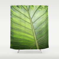 palm Shower Curtains featuring Palm by ALLY COXON