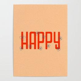Happy Flowers Poster