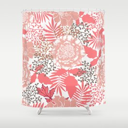 Pink peonies. Shower Curtain