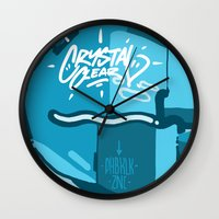 crystal Wall Clocks featuring CRYSTAL by clogtwo