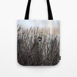 Chickadee in a Bush Tote Bag