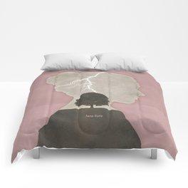 Charlotte Brontë Jane Eyre - Minimalist literary design Comforters