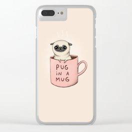 Pug in a Mug Clear iPhone Case