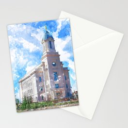 Cedar City LDS Temple Watercolor Stationery Cards