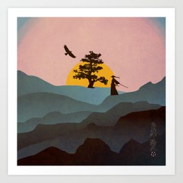 Nature Love Of A Peacful Warrior Art Print