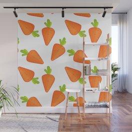 carrot pattern Wall Mural