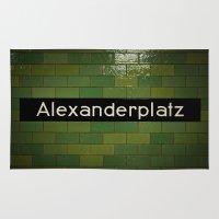 alex turner Area & Throw Rugs featuring Alex by Albartus Vrolijk