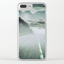 The Road and the Mountains Clear iPhone Case
