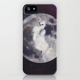 There Are Kitties On The Moon, Houston iPhone Case