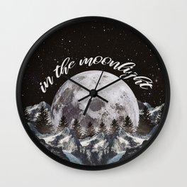 in the moonlight Wall Clock