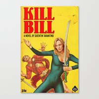 kill bill Canvas Prints featuring KILL BILL by Ads Libitum