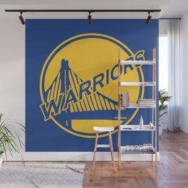 Golden State blue basketball logo Wall Mural