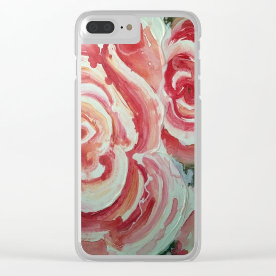 Roses For My Sister Clear iPhone Case