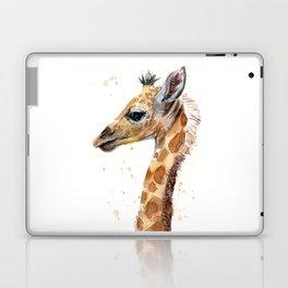 Giraffe Watercolor Cute Baby Animals Laptop & iPad Skin