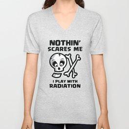 Halloween Radiology Tech Radiation Skull  Unisex V-Neck