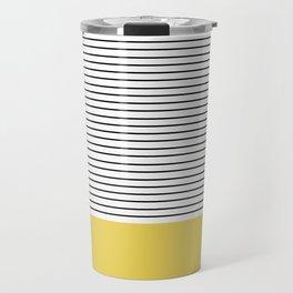 MINIMAL Green Stripes Travel Mug