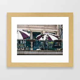 French Quarter Mardi Gras Balcony, New Orleans Framed Art Print