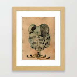 Rooster Home Framed Art Print