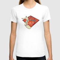 surfboard T-shirts featuring Waimea Hawaiian Surfboard Design by Drive Industries