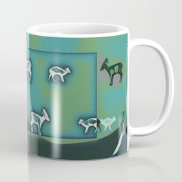 Muntjac Green. Coffee Mug