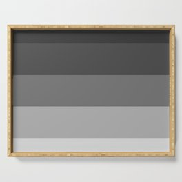 Soft Gray Stripes in Perfect Balance Serving Tray
