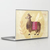 llama Laptop & iPad Skins featuring Llama by Juliana Cuervo
