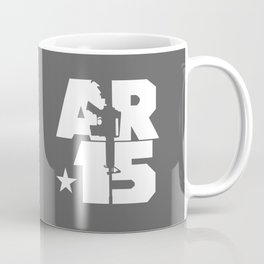 AR-15 (Gunmetal/White) Coffee Mug