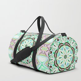 Mandala with fantasy flower and tribal patterns Duffle Bag