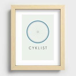 Cyklist Recessed Framed Print