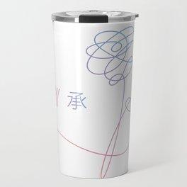 bts logo and autograph signature signatures Travel Mug