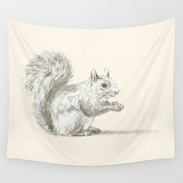 Resting Squirrel Wall Tapestry