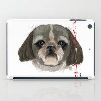 shih tzu iPad Cases featuring Shih-Tsu by Det Tidkun