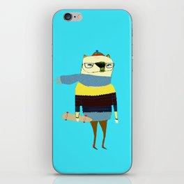 Bear Skateboarder, skateboarding print, skater iPhone Skin