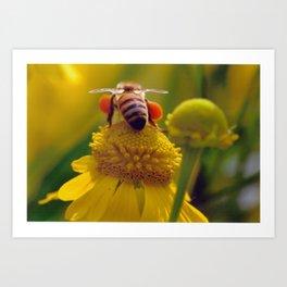 Bee Buzzy Art Print