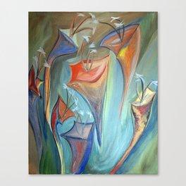 Floral Dimension Canvas Print