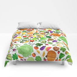 Fruit and Veg Pattern Comforters