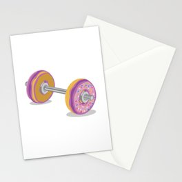 Donut Work-Out Stationery Cards