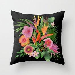 My Tropical Backyard Throw Pillow