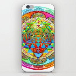 Inner Strength Psychedelic Tiger Sri Yantra Mandala iPhone Skin