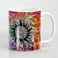 supernatural Mugs featuring Supernatural by Spooky Dooky
