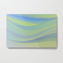 colorful wavy abstract mixer brush Metal Print