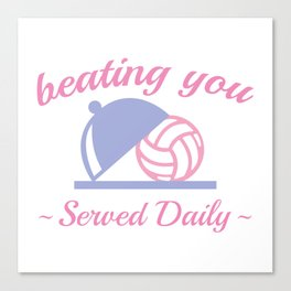 Beating You In Volleyball Canvas Print