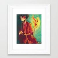 zuko Framed Art Prints featuring zuko by jununy