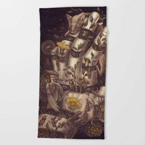 Disperse Beach Towel
