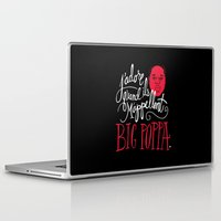 typography Laptop & iPad Skins featuring French Poppa by Chris Piascik