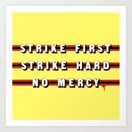 Cobra Kai (Rule of Threes) Art Print